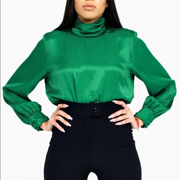 Tops - Vintage Emerald Blouse